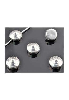 www.snowfall-beads.fr - Perles de matière synthétique metal look 'studs' ± 6x10mm (trou ± 1,5mm) (± 90 pcs.)
