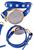www.snowfall-beads.de - Kunstlederarmbanduhr (4cm) doppelt mit Strassstuds ± 44cm, ± 10mm breit, verstellbar, Innenmaß ± 18-20cm