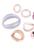 www.snowfall-beads.nl - Mix kunststof schakels/tussenzetsels ± 25-44mm en kralen ± 18mm