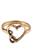 www.snowfall-beads.be - Metalen vingerring bewerkt met hartje ± 21x13mm (maat 15 = 55mm = Ø 17,5mm)