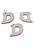 www.snowfall-beads.fr - Pendentifs/breloques en bois, lettre D ± 43x40mm (oeil ± 2,5mm)