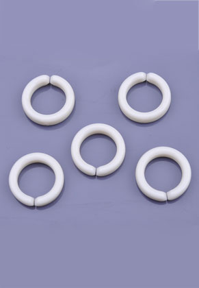 www.snowfall-beads.nl - Kunststof schakels/tussenzetsels rond ± 15mm (gat ± 10mm) (± 190 st.)