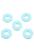 www.snowfall-beads.nl - Kunststof ringen/tussenzetsels achthoek ± 22mm (gat ± 9mm) (± 55 st.)