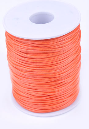 www.snowfall-beads.com - Wax cord with lustre ± 90 meter per roll, ± 2mm thick