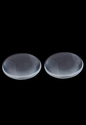 www.snowfall-beads.de - Glas Klebsteine/cabochon rund ± 30mm, ± 7mm dick