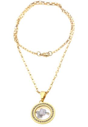 www.snowfall-beads.be - Metalen (roestvrij staal) hanger/bedel medaillon 'Floating Charm Locket' met glazen kastje (± 14x3mm) en strass ± 36x22x6mm (oogje ± 9x5mm)