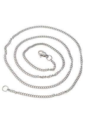 www.snowfall-beads.nl - Roestvrijstalen halsketting 50cm (± 2mm dik)