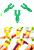 www.snowfall-beads.be - Kunststof mini Loom pen ± 55x26mm voor het maken van Loom armbanden