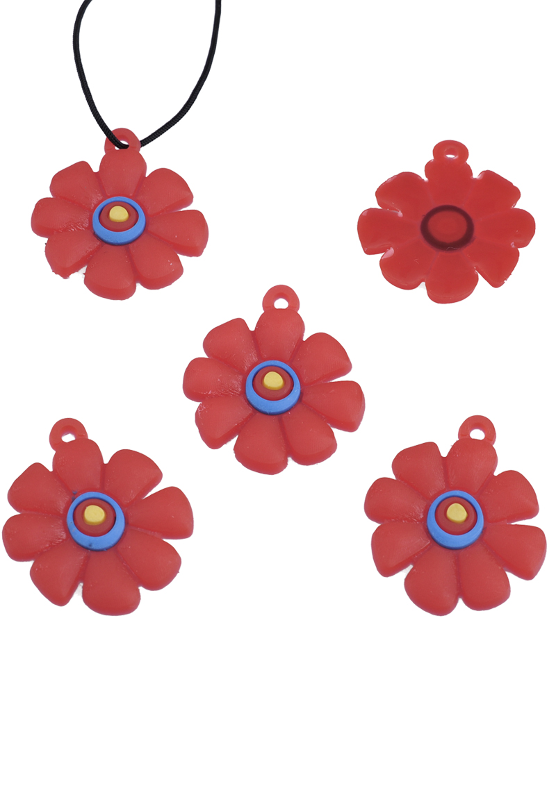 silicone pendants charms flower for loom bracelets