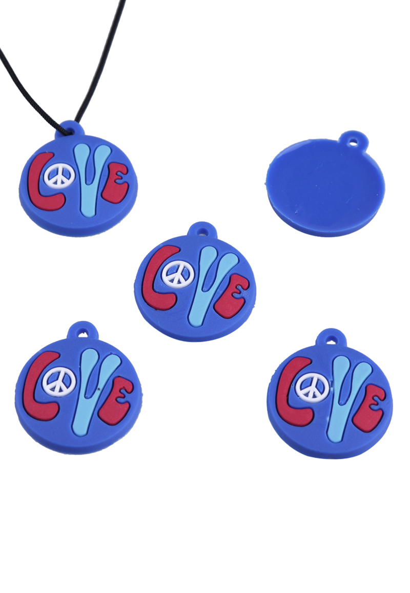 silicone pendants charms for loom bracelets