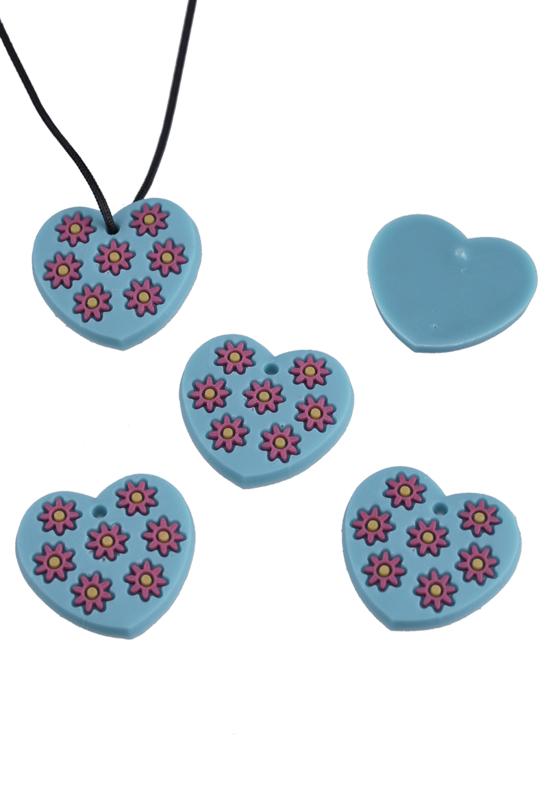 silicone pendants charms with flowers for loom