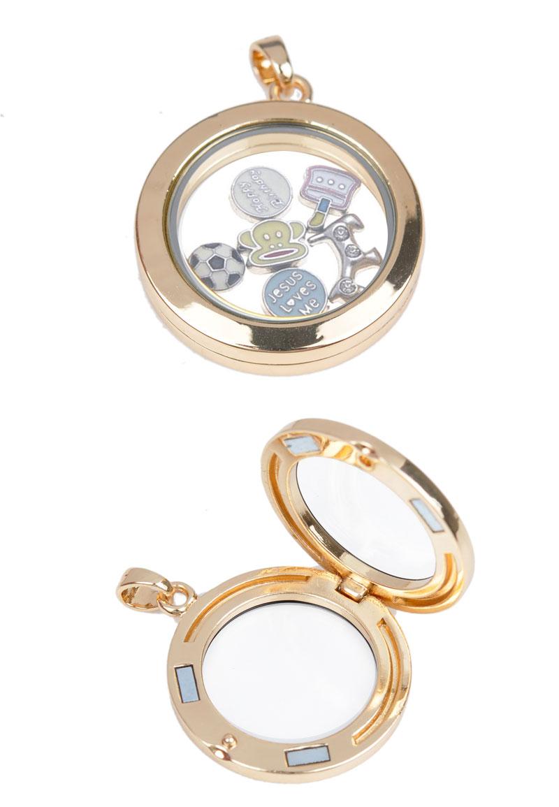 metal pendant charm locket floating charm locket with