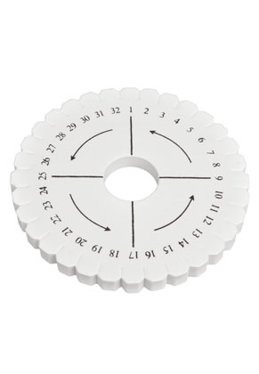 www.snowfall-beads.com - Kumihimo braiding disk round ± 10,5cm