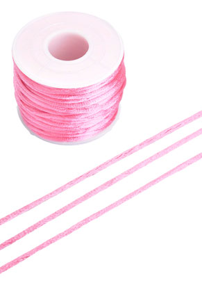 www.snowfall-beads.com - Satin cord ± 2mm (± 19 meter per roll)