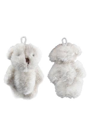 www.snowfall-beads.fr - Pendentifs de textile ours 65x32mm