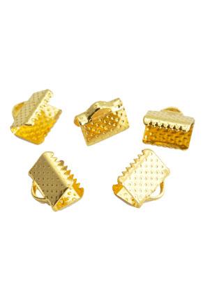 www.snowfall-beads.es - Terminal para cinta de metal para cordón y cuero 8x8mm (90 piezas)