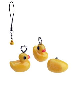 www.snowfall-beads.be - Kunststof hangers/bedels eendje 12x10mm