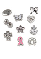 www.snowfall-beads.com - Mix metal Floating Charms with strass 5-9mm - D19113