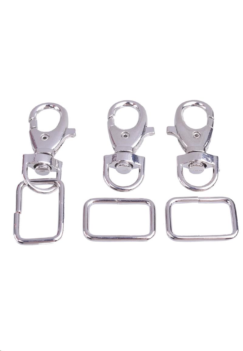 Porte cl s en m tal 51x22mm avec anneau 31x21mm for Porte en metal