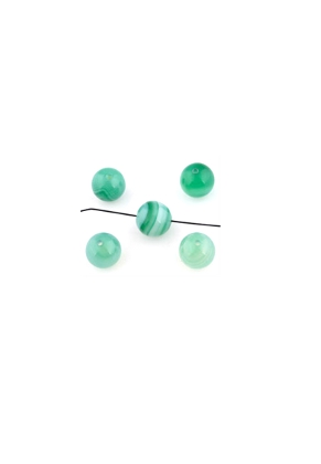 www.snowfall-beads.com - Natural stone beads Agate round 10mm