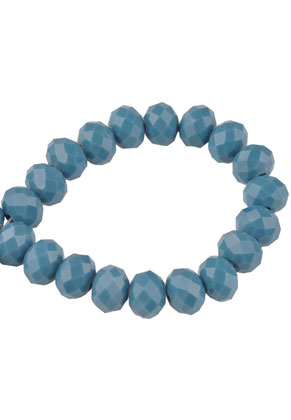 www.snowfall-beads.com - Glass beads roundel faceted 8x6mm (70 pcs.)