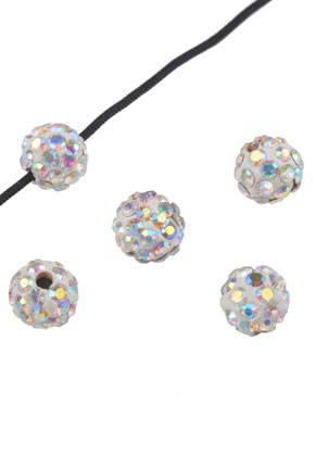 www.snowfall-beads.com - Polymer clay beads with strass round 8mm