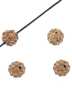 www.snowfall-beads.nl - Polymeerklei kralen met strass rond 10mm