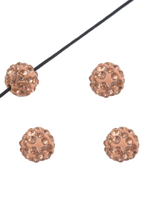 www.snowfall-beads.com - Polymer clay beads with strass round 10mm