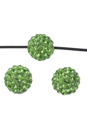 www.snowfall-beads.nl - Polymeerklei kralen met strass rond 12mm