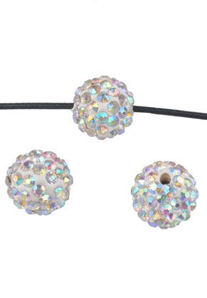 www.snowfall-beads.com - Polymer clay beads with strass round 14mm