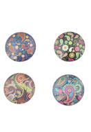 www.snowfall-beads.com - Mix glass flat backs/cabochon round 30mm - D19793