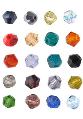 www.snowfall-beads.com - Mix glass beads bicone 4mm