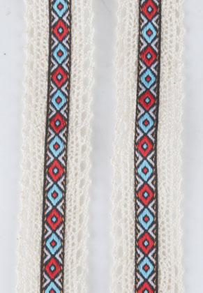 www.snowfall-beads.nl - Stoffen lint Aztec 100x3.2cm