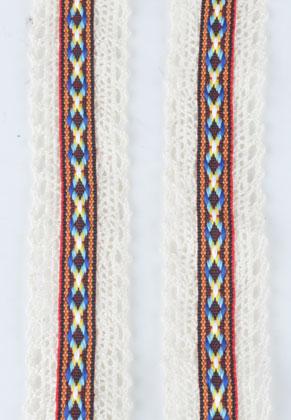 www.snowfall-perles.be - Ruban en textile, Aztec 100x3.2cm