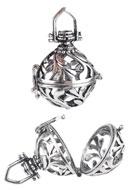 www.snowfall-beads.fr - Pendentif en métal, appel aux anges/Prayer Box 36,5x25,5mm - D20213