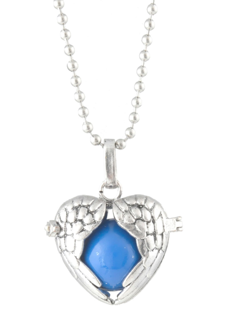 Necklace with pendant angel caller/Prayer Box and chime ...