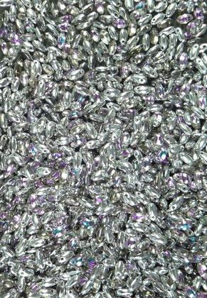 www.snowfall-beads.com - Rizo glass beads rise grain shape 6x2,5mm