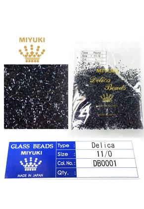 www.snowfall-beads.de - Miyuki Delica Beads Glas rocailles 11/0 1,6x1,3mm DB0001 (10000 St.)
