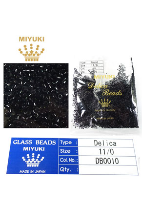 www.snowfall-beads.com - Miyuki Delica Beads glass seed beads 11/0 1,6x1,3mm DB0010 (10000 pcs.)