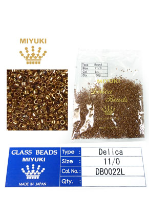 www.snowfall-beads.com - Miyuki Delica Beads glass seed beads 11/0 1,6x1,3mm DB0022L (10000 pcs.)