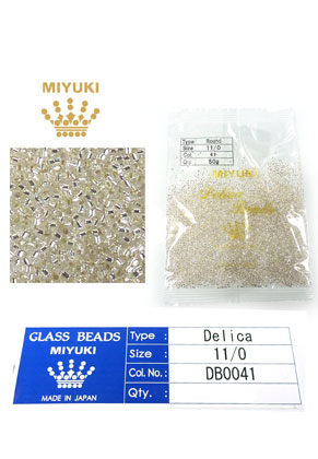 www.snowfall-beads.com - Miyuki Delica Beads glass seed beads 11/0 1,6x1,3mm DB0041 (10000 pcs.)