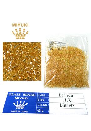 www.snowfall-beads.com - Miyuki Delica Beads glass seed beads 11/0 1,6x1,3mm DB0042 (10000 pcs.)
