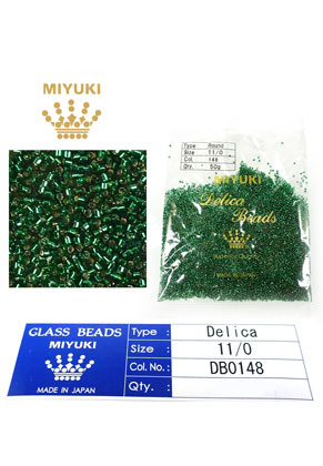 www.snowfall-beads.com - Miyuki Delica Beads glass seed beads 11/0 1,6x1,3mm DB0148 (10000 pcs.)
