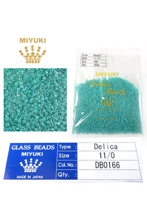 www.snowfall-beads.com - Miyuki Delica Beads glass seed beads 11/0 1,6x1,3mm DB0166 (10000 pcs.)