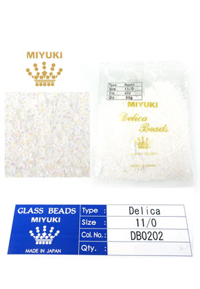 www.snowfall-beads.com - Miyuki Delica Beads glass seed beads 11/0 1,6x1,3mm DB0202 (10000 pcs.)
