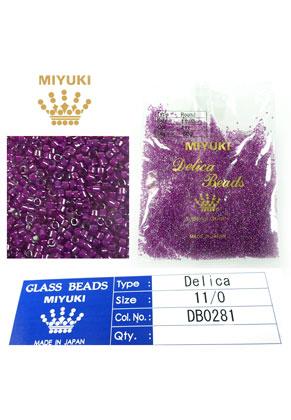www.snowfall-beads.com - Miyuki Delica Beads glass seed beads 11/0 1,6x1,3mm DB0281 (10000 pcs.)