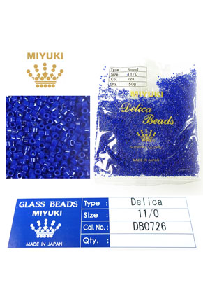 www.snowfall-beads.com - Miyuki Delica Beads glass seed beads 11/0 1,6x1,3mm DB0726 (10000 pcs.)