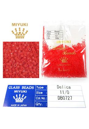 www.snowfall-beads.com - Miyuki Delica Beads glass seed beads 11/0 1,6x1,3mm DB0727 (10000 pcs.)