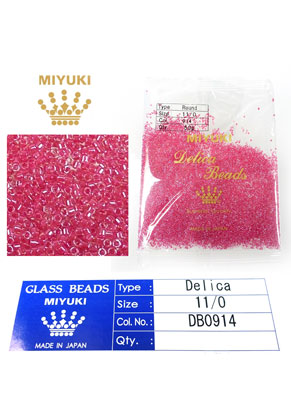 www.snowfall-beads.co.uk - Miyuki Delica Beads glass seed beads 11/0 1,6x1,3mm DB0914 (10000 pcs.)