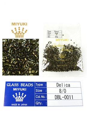 www.snowfall-beads.com - Miyuki Delica Beads glass seed beads 8/0 3x2,7mm DBL-0011 (1500 pcs.)